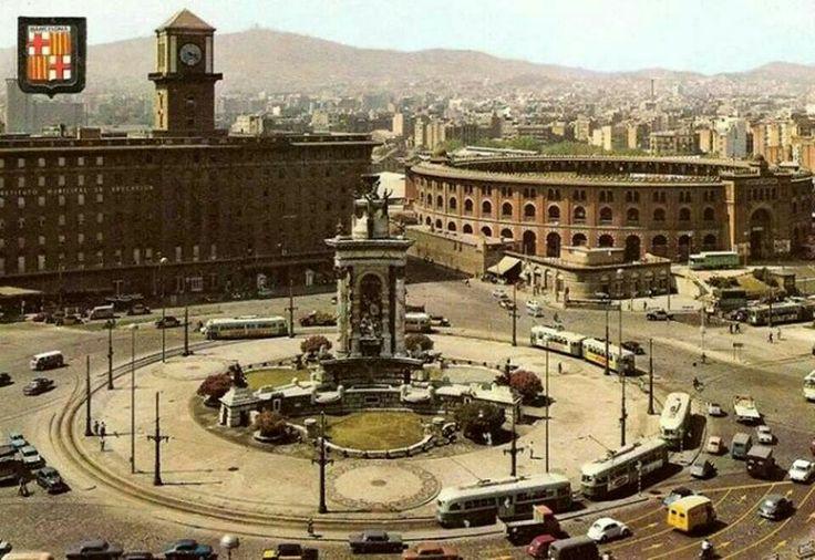 Barcelona Plaza de España años 60