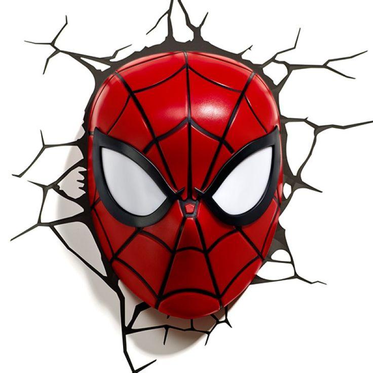3-d man marvel   Lámpara 3D de Pared Deco Light - Máscara Spider-Man Marvel