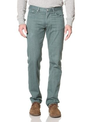 86% OFF Industry of All Nations Men's Straight Fit Jeans (Pine Green)