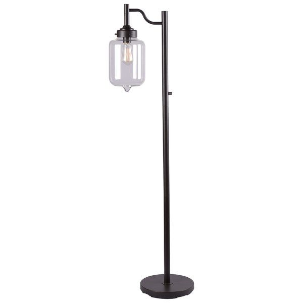 The Casey Floor Lamp family presents the best of modern design with warm oil rubbed bronze finish, and the classic cool of an apothecary style glass shade. The floor lamp variation would wonderfully compliment a neo-Victorian inspired room, the addition of Casey's older sibling would even further define this classically modern look.