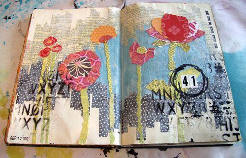 DonnaDowney.com: Collage Mondays, Happy Birthday, Art Journals, Journals Ideas, Art Sketchbooks, Donnadowney Com, Downey Collage, Donna Downey Cool, Inspiration Art