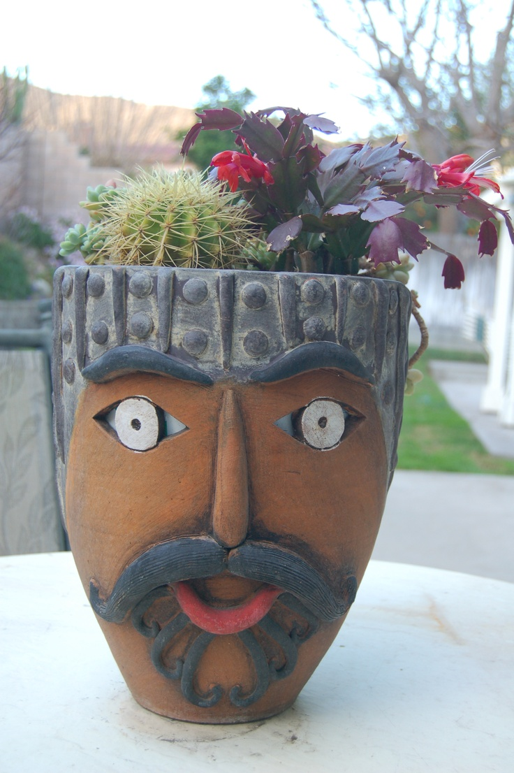 127 Best Images About Pot Heads Planters On Pinterest
