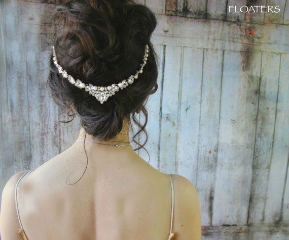 Pearl Bridal Headpiece, Pearl Headband, Wedding Headpiece, Bridal Hair Jewelry
