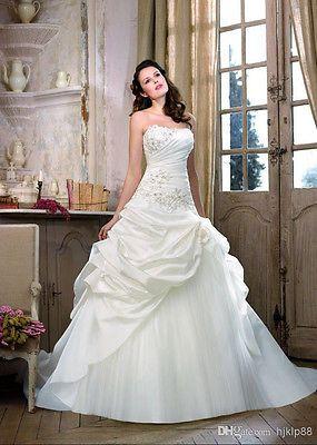 2014 Hot Sale New Sexy white/ivory wedding dress size 32 34 36 38 40 42