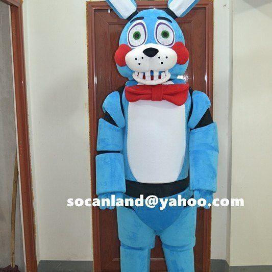 FNAF Toy Bonnie Costumes,FNAF Toy Bonnie Adults,Toy Bonnie Birthday,FNAF Toy Bonnie Invitation,Toy Bonnie Halloween,Toy Bonnie Kids by CartoonMascotCostume, $235.00 USD