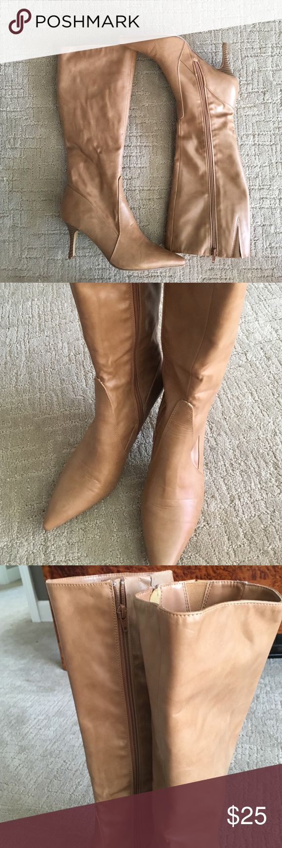Charles by Charles David knee high boots Charles by Charles David Carmel/ tan knee high boots - zip leg barley worn.  Almost new condition!!! Charles David Shoes Heeled Boots