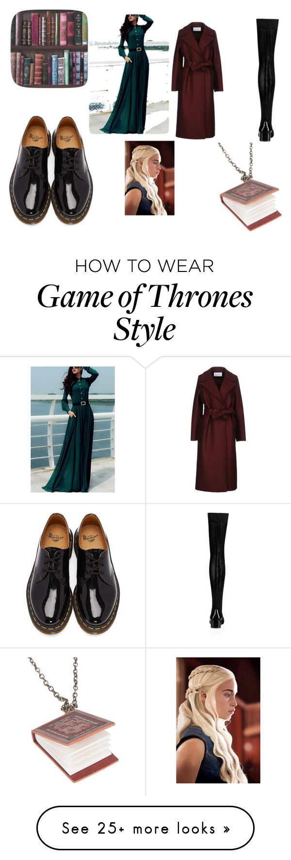 """""""Liesel Meminger"""" by natalia-santarpia on Polyvore featuring Harris Wharf London, Dr. Martens, Christian Louboutin, Graham & Brown, Disney and thebookthief"""
