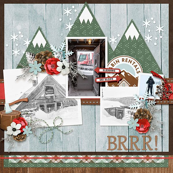 Cabin Fever Bundle By Ljs Designs Template Ginger Scraps Fwp Aug 2019 By Miss Fish Templates In 2020 Pattern Paper Fish Template Fun Outdoor Activities