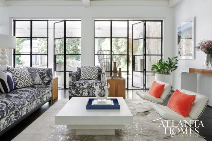 Design Indulgence I want these huge metal doors so bad! Think I'll have to enjoy them from the pages of Atlanta Homes