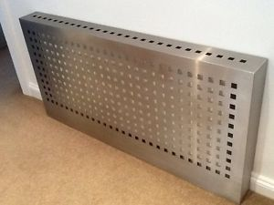Large Stainless Steel Metal Radiator Cover W:165Cm X H:81Cm X D:15Cm