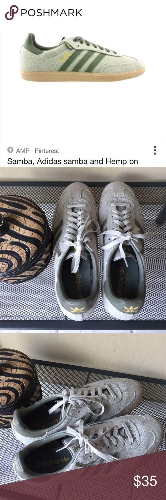 Mens Adidas Hemp Samba Adidas Hemp Samba. 3 stripes. Like brand new Adidas Shoes Sneakers
