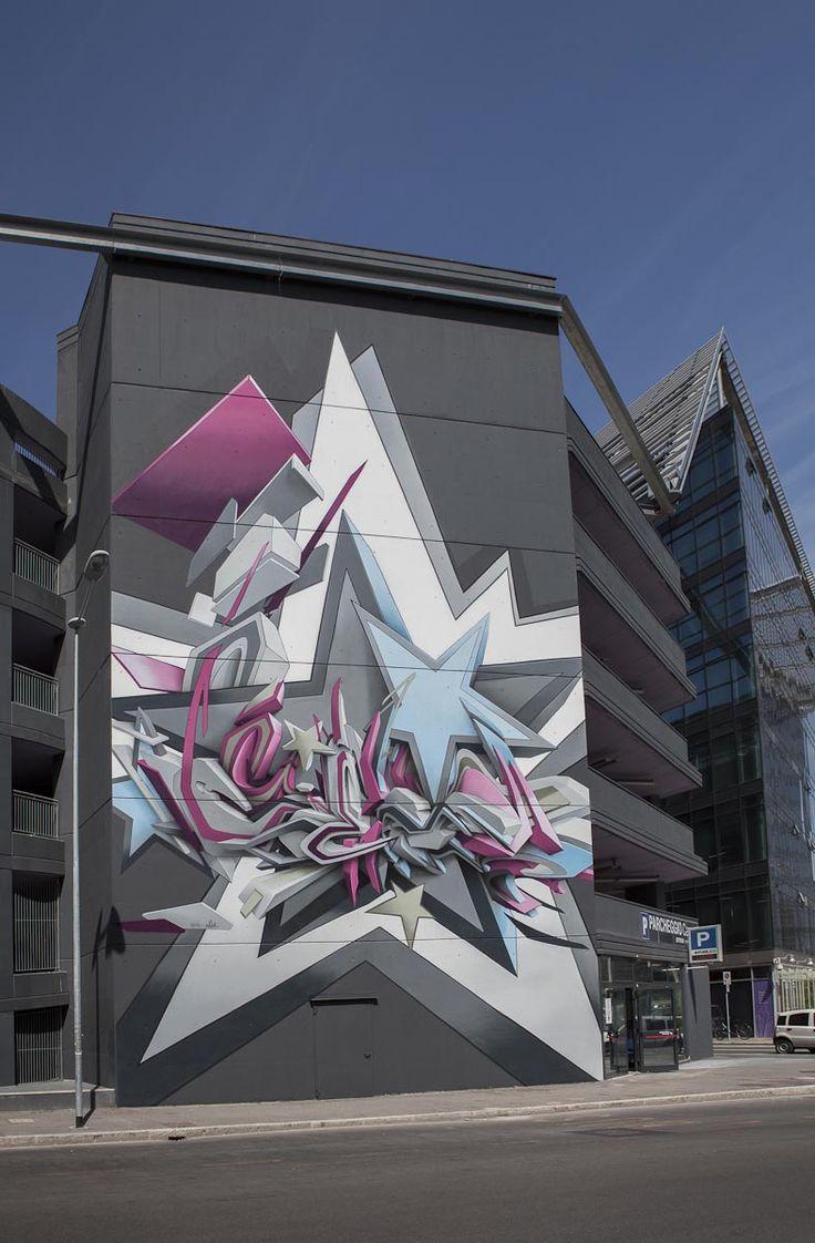 Street art graffiti coin à art mural art mur bologne italie styles de lettrage œuvres art urbain murs