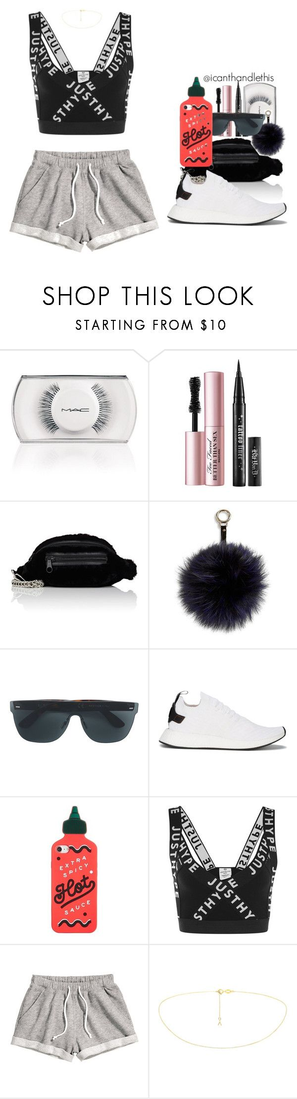 """""""Aazar - Gyal (Samba Dance Festival)"""" by icanthandlethis ❤ liked on Polyvore featuring MAC Cosmetics, Too Faced Cosmetics, Alexander Wang, Adrienne Landau, RetroSuperFuture, adidas Originals, ban.do, Hype and H&M"""