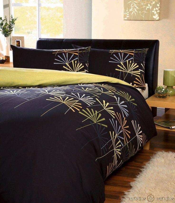 alaia reversible chocolate u0026 green modern printed duvet cover