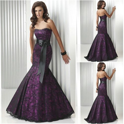 Purple Mermaid Dresses Prom