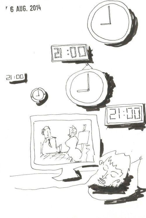 6 augustus. Er zijn zo van die dagen… dat je om 21u in slaap valt in dezetel