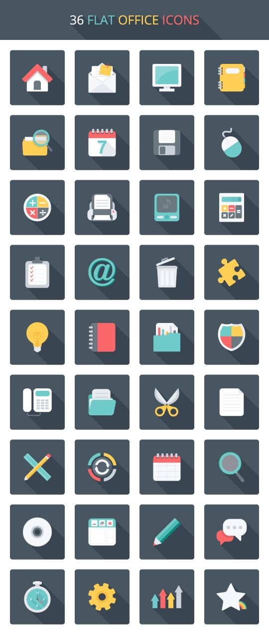 Get not one, but two amazing FREE icon packs focused around an office theme. Things like monitors, envelopes, address books, pens, paper and more. Enjoy!