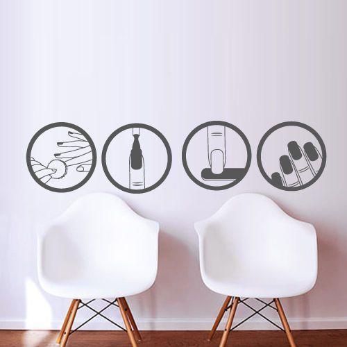 Fashion Nail Vinyl Wall Decal Salon Beauty Design Master Polish Manicure Wall Sticker Nail Shop Salon Window Glass Decoration(China (Mainland))