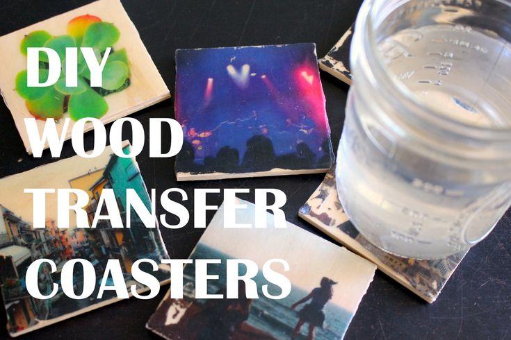DIY Wood Transfer Coasters