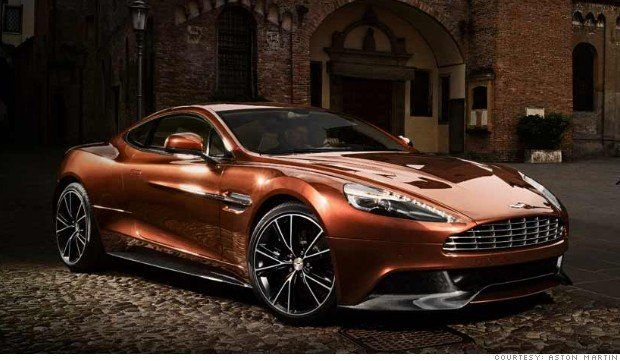 2014 Aston Martin Vanquish: It has a skin of carbon fiber, the V-12 engine puts out 565 horsepower, and the car screams to 62 miles per hour in 4.2 seconds. With a top speed of 190 mph at a 280,000 price tag