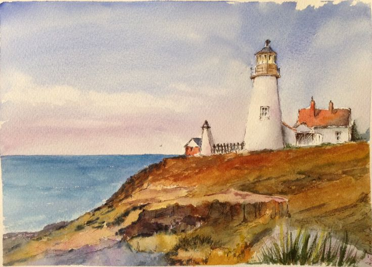 The Lighthouse, Line and Watercolour
