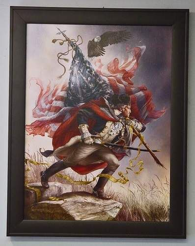 The American Spirit Framed Canvas by Tom duBois #Realism