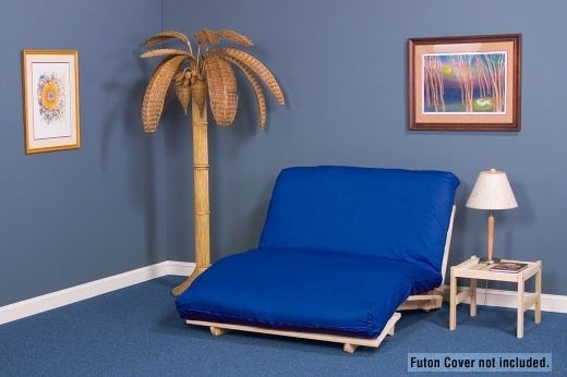 School-room lounger Tri-Fold Futon Lounger Package - Includes Hardwood Frame & Futon Mattress