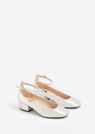 Ankle strap metallic shoes -  Women | MANGO USA