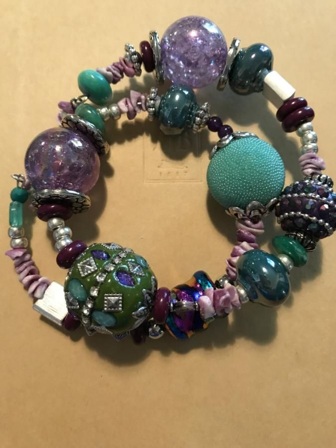 Purple and Teal  by Andi
