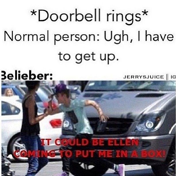 Omg yes >;) i did that once after watching Ellen (x