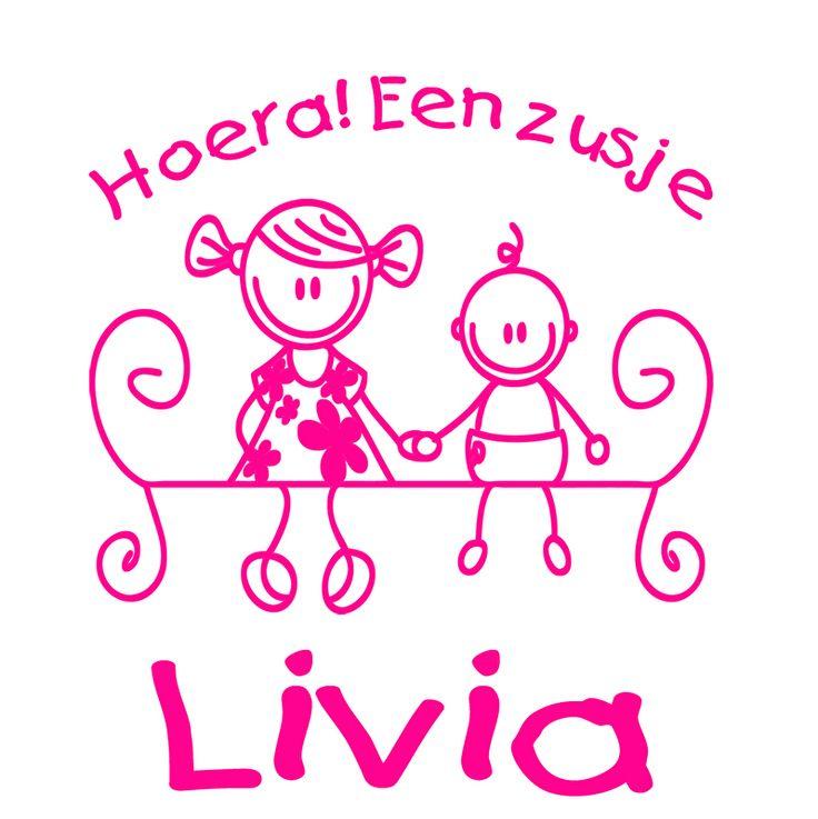Geboortesticker type Livia | Geboortesticker meisje | Geboortesticker Company