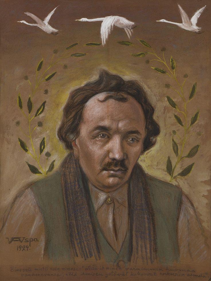 Wettenhovi-Aspa (Wetterhoff-Asp) Portrait of Eino Leino, 1924 (52 x 47 cm).