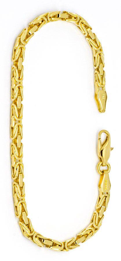 Foto 2, Goldarmband Königskette massiv Gelb-Gold 14K/585 Luxus!, K2233