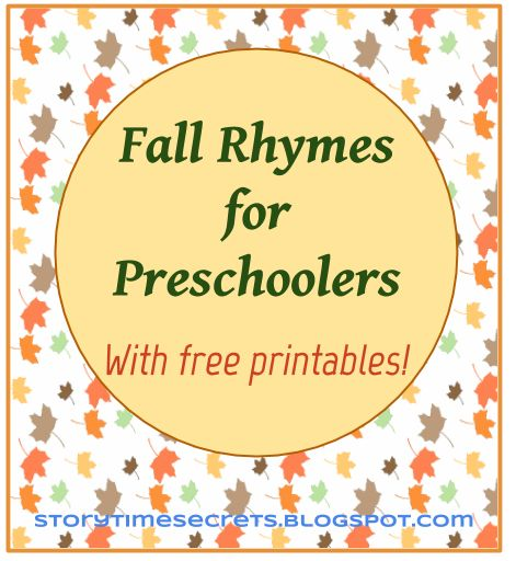 Story Time Secrets: Fall Rhymes for Preschoolers (with Printable Booklets)