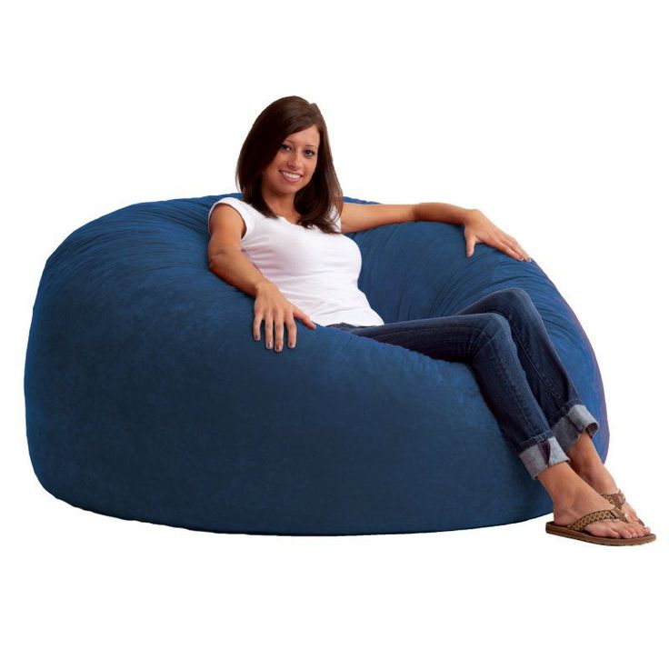 FUF 5 Ft King Comfort Suede Bean Bag Sofa Blue Sky