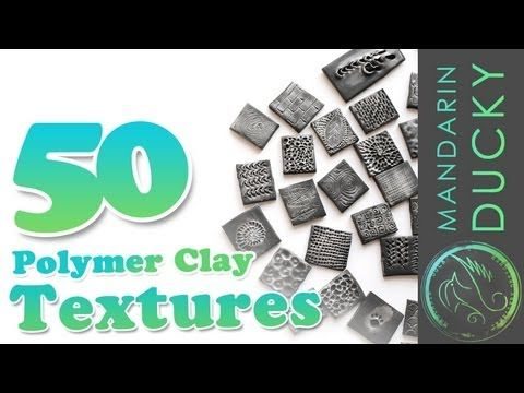 50 POLYMER CLAY TEXTURES with ball tool only - ポリマークレイ ; 폴리머 클레이 - YouTube