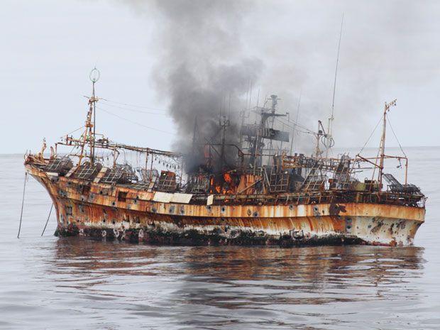 US Coast Guard sinks tsunami ghost ship off Alaska coast