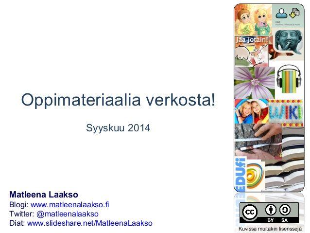 Matleena Laakso: Oppimateriaalia verkosta!