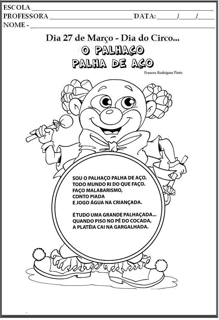 Resultado De Imagem Para Dia Do Circo Para Educacao Infantil