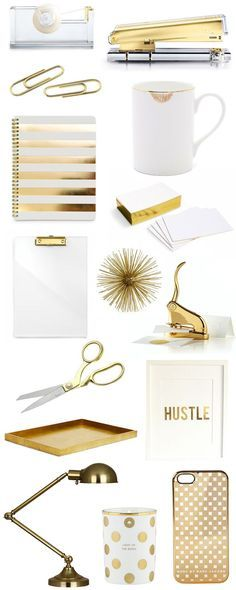 Gold office accessories | The Fifth Watches // Minimal meets classic design: www.thefifthwatches.com