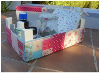 Entre anhelos y caprichos decoupage recycling cajas - Decorar cajas de madera manualidades ...