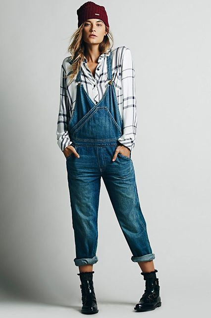 The Tomboy Way To Do Throw-On-&-Go #refinery29  http://www.refinery29.com/overalls#slide-6