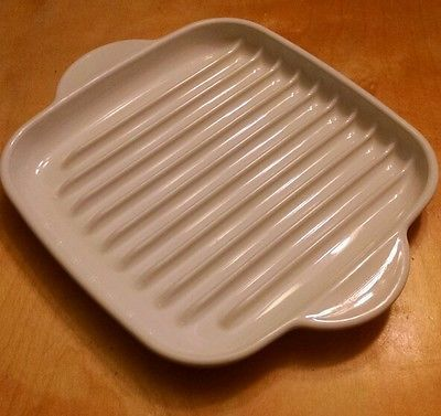 Corning Ware Mr 3 Microwave Bacon Browning Roast Grill Rack Tray W Handles Exc