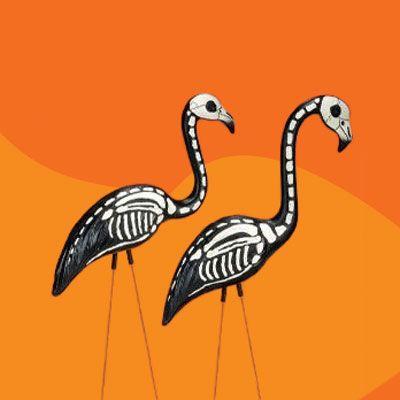 Skeleton flamingos, easily DIY