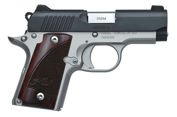 MICRO 9 TWO-TONE 9MM WITH ROSEWOOD GRIPS