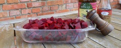 Rode Bieten klaarmaken - blokjes in de oven