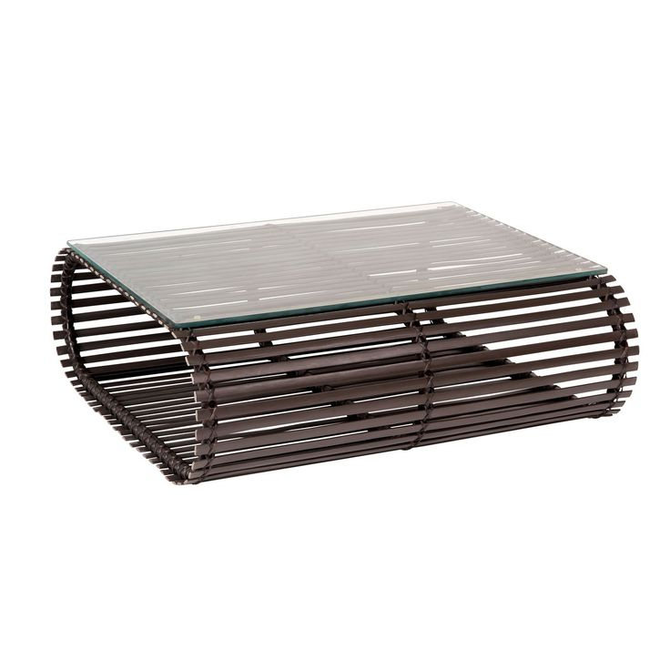 This contemporary outdoor coffee table features thick, all-weather HDPE wicker slats hand woven to a tubular aluminum frame. The modern outdoor coffee table by Stori Modern measures 13.125 in. (h) x 38 in. (w) x 35.5 in. (d) and available colors include coffee, beige and white.