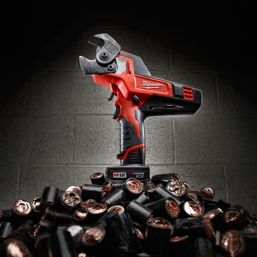 "17 best images about electrical stuff cable the milwaukee m12â""¢ 600 mcm cable cutter 2472 21xc delivers jaw dropping cable"