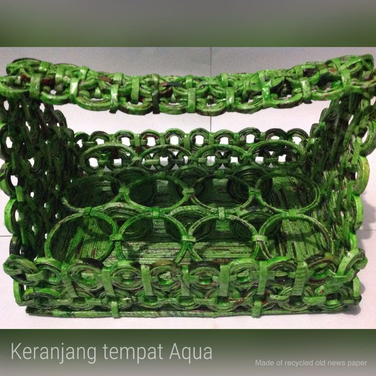 Multifunction basket made of recycled old newspaper Marma Store Collection  Instagram : marmaestore Line id : kupukupubiru