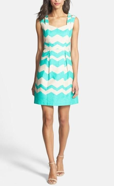 Perfect dress for a Derby party! Love the mint chevron pattern.